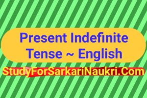 Present Indefinite Tense in Hindi Rules And Example